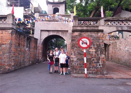 the old gate listed as a hitorical heritage-Quan Chuong gate