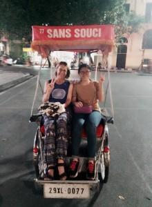 hanoi food tour-cyclo riding